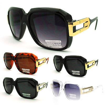 Mens Legendary Rapper Hip Hop Oversized Squared Rectangular (Oversized Rectangular Sunglasses)