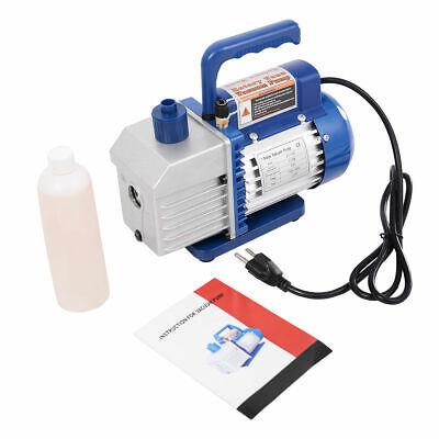 Single Stage 1/3HP 5CFM Rotary Vane Deep Vacuum Pump HVAC AC Air tool R134 R410a