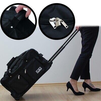 LEONARDO XL TROLLEY TASCHE Koffer Handgepäck Stoff Sport Reise Travel Kabine