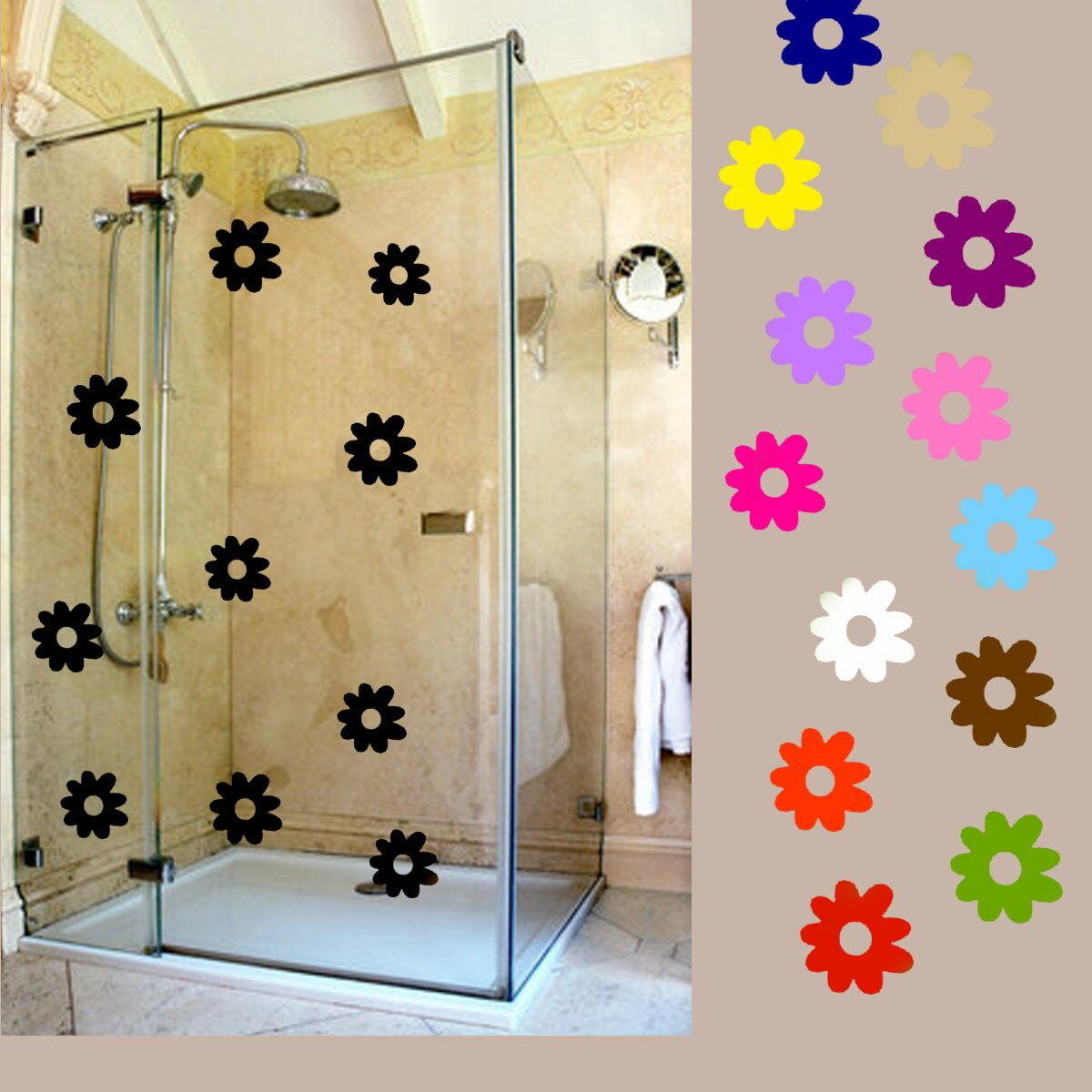Aufkleber Blumen Set 10 Stück a.6 cm Fensteraufkleber  Wandtattoo,Möbelsticker
