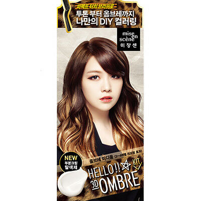 Ez Self Hair Color Dye Hello Bubble Foam Korea Mise en scene Ombre Medium