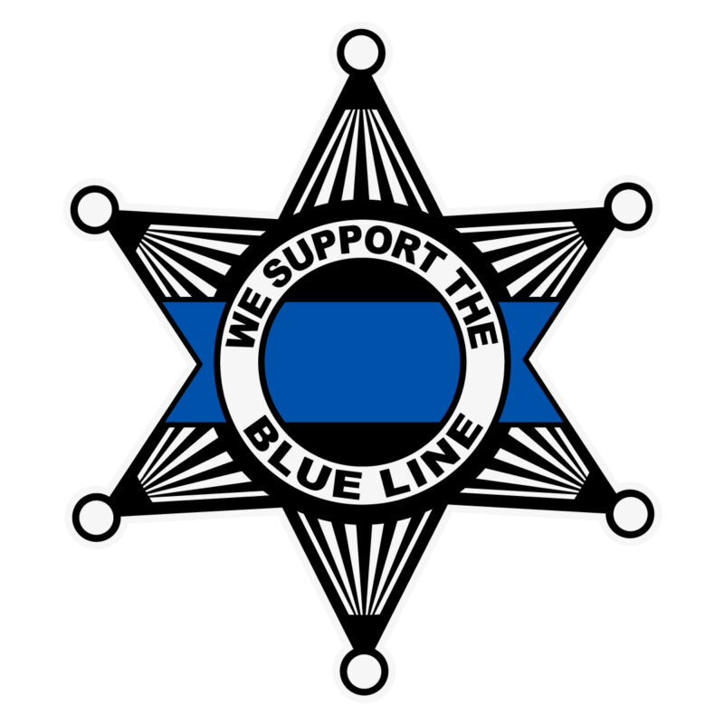 We Support The Blue Line Reflective Sheriff