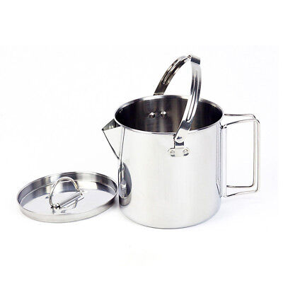 Stainless Steel Campfire - 1.2L Stainless Steel Outdoor Picnic Camping Hanging Pot Campfire Cooking Kettle