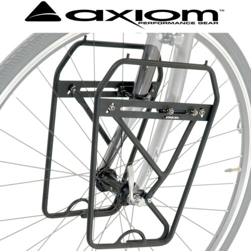Axiom Journey DLX Lowrider Adjustable Front Pannier Fork Rack Touring All Bike
