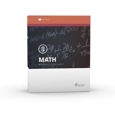 LIFEPAC Math 7th Grade 7 Mathematics AOP Home School Curriculum Kit -