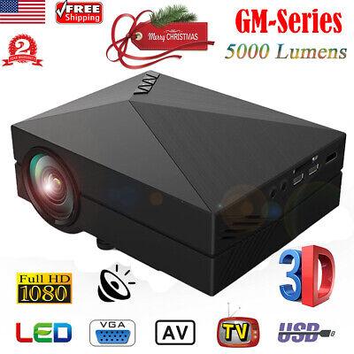 5000 Lumens Portable Home Cinema Theater LED Projector HD 1080P HDMI AV USB WF