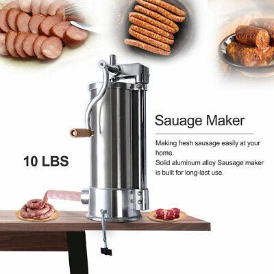 10 Lbs Sausage Stuffer Maker Meat Filler Stainless Steel Commercial Restaurant