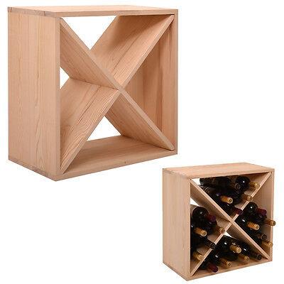 24 Bottle Wine Rack Holder Bar Storage Kitchen Decor Glass Wood Display Home NEW 24' Wood Rack Bars