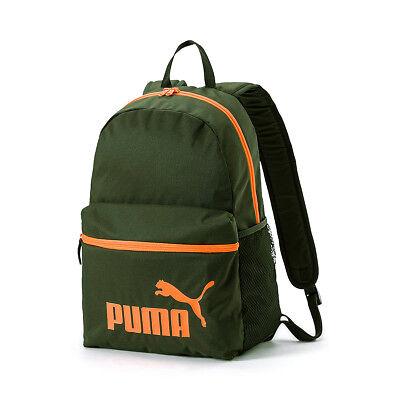 Puma Fase Mochila Deporte de Ocio Viaje Escuela 75487 05 Verde