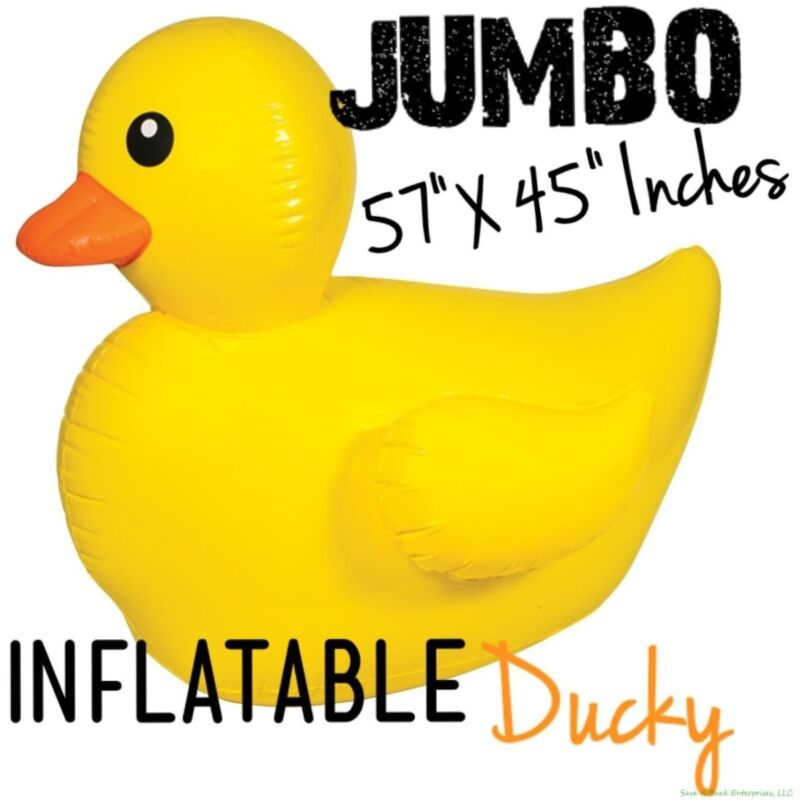 GIANT Inflatable Float Rubber Ducky Duck ~ Birthday Pool Toy Party Outdoor Fun