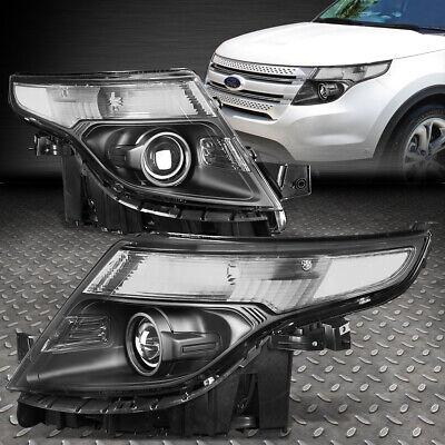 FOR 2011-2015 FORD EXPLORER BLACK HOUSING CLEAR CORNER PROJECTOR HEADLIGHT - Ford Explorer Black Headlight