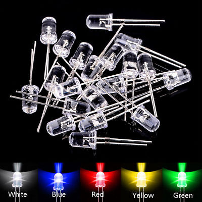 100-1000pcs 35mm Redgreenblueyellowwhite Led Diodes Light Assortment Kit