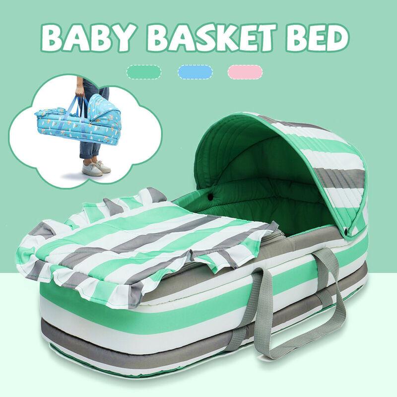 Portable Baby Crib Newborn Travel Folding Infant Basket Bed Bag Cradle Bassinet