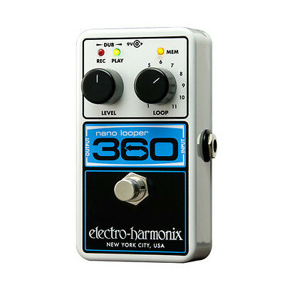 Electro Harmonix Nano Looper 360 Delay and Looper Pedal - 360 Looper - B stock