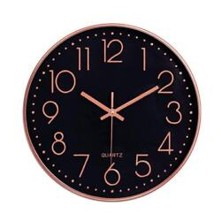 Modern 12 Battery Operated Silent Non-Ticking Wall Clock Quiet Sweep Home Decor