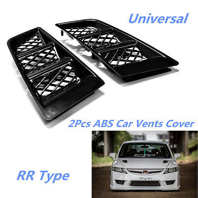Fashion 2x RR Type Car ABS Vents Cover Hood Bonnet Air Vents Air Flow Vent Duct