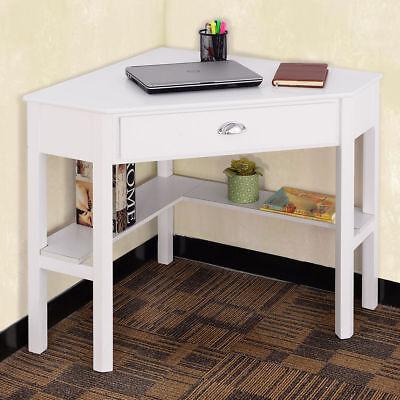 Corner Computer Desk Laptop Writing Table Wood Workstation Home Office Furniture