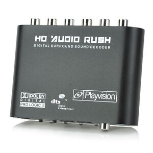 Digitale AC3 DTS Audio Decoder Optisch Koaxial zu 5.1 Stereo Sound Z0367