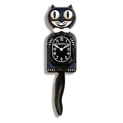 BLACK KITTY-CAT KIT-CAT MOVING CLOCK KAT KLOCK