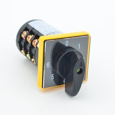 12 Terminals 7 Position 0-1-2-3-4-5-6 Cam Combination Changeover Switch