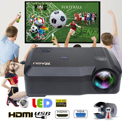 3000:1 Crenova 1080P HDMI Video Home Theater Projector Projection TV DVD SD AV