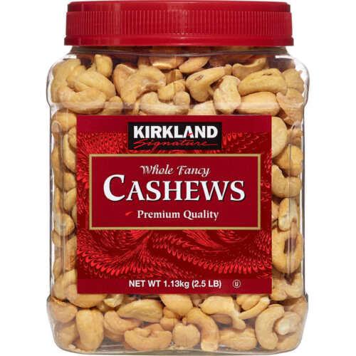 Kirkland Signature Whole Fancy Premium Quality Cashews 2.5 lb 1.13Kg Fresh .....