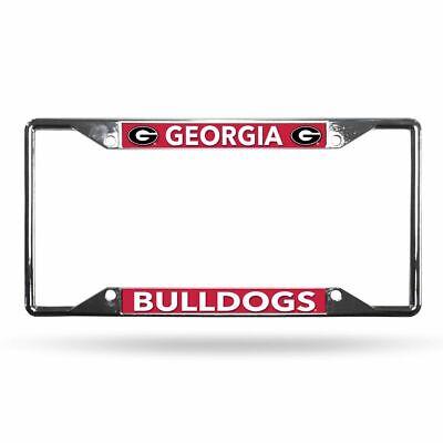 Georgia Bulldogs NCAA Lightweight Chrome Metal License Plate Frame Georgia Bulldogs Metal