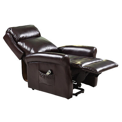 Brown Electric Luxury Power Lift Recliner Chair Soft Livingroom Lazy Affordable