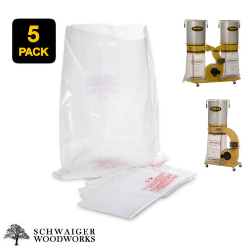 (5) Plastic Dust Collector Lower Bags for Powermatic PM1300, PM1300TX, PM1900