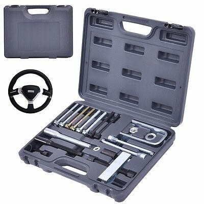 - 19 Pcs Steering Wheel Puller& Lock Plate Set Compressor Installer Remover Kit