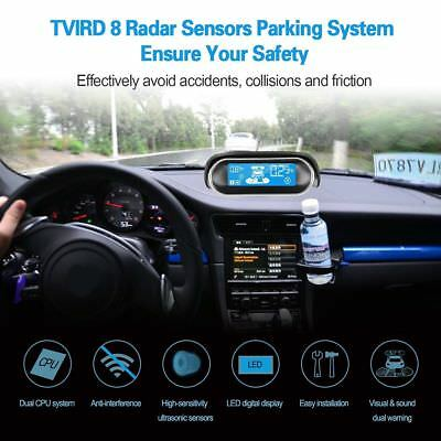 Car Lcd Display Dual-core Black 8 Sensors Reverse Backup ...
