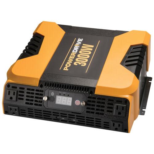 PowerDrive 3000 Watt Power Inverter Bluetooth w/4 AC/2 USB Sockets GUARANTEED