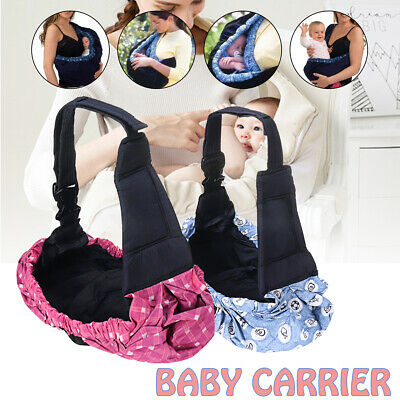 Newborn Baby Carrier Sling Wrap Adjustable Soft Nursing Pouch Front Infant