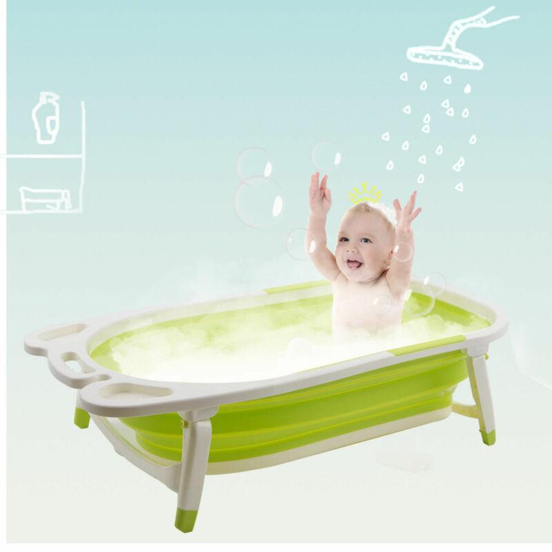 Babyjoy Green Baby Folding Bathtub Infant Collapsible Portable Shower Basin