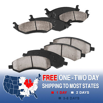 Front And Rear Ceramic Brake Pads For Dodge Durago Ram 1500 Aspen 4WD 2WD