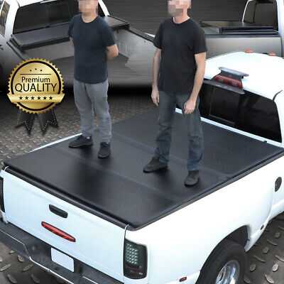 FOR 73-98 FORD F-SERIES 6.5FT SHORT BED FRP HARD SOLID TRI-FOLD TONNEAU COVER