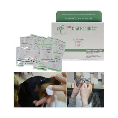 Dog Cat Oral Care Tissue Natural Safety Ingredient Pet Dental Wipes (1 BOX)