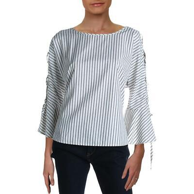 Velvet Womens Knit Striped Casual Pullover Top Shirt BHFO 5154