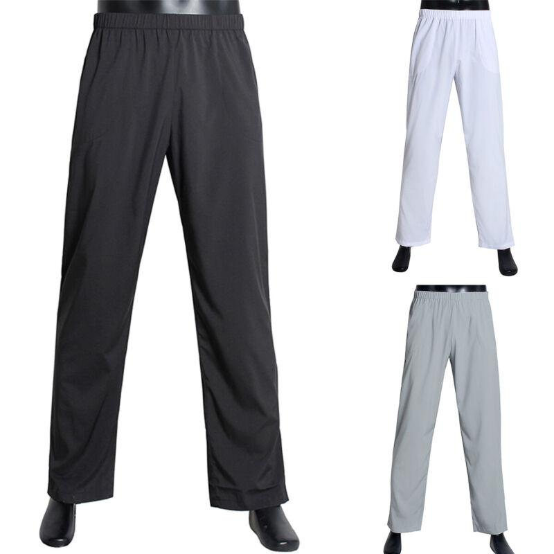 Men Elastic Waist Casual Pants Jogging Bottoms Sports Long T
