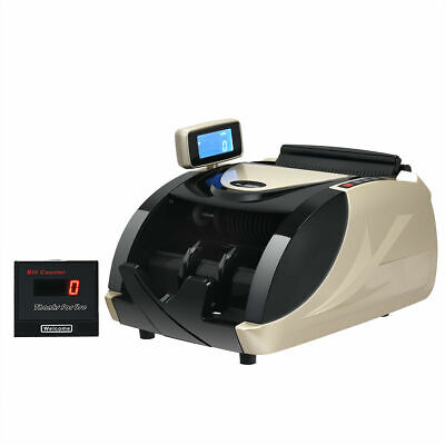 Money Cash Currency Counter Machine Automatic Counterfeit Bill Detector Led