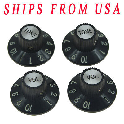 2 Tone Guitar Knobs (Guitar Witch Hat Knobs 2 Volume 2 Tone for Fender 72 Tele Custom or Others )