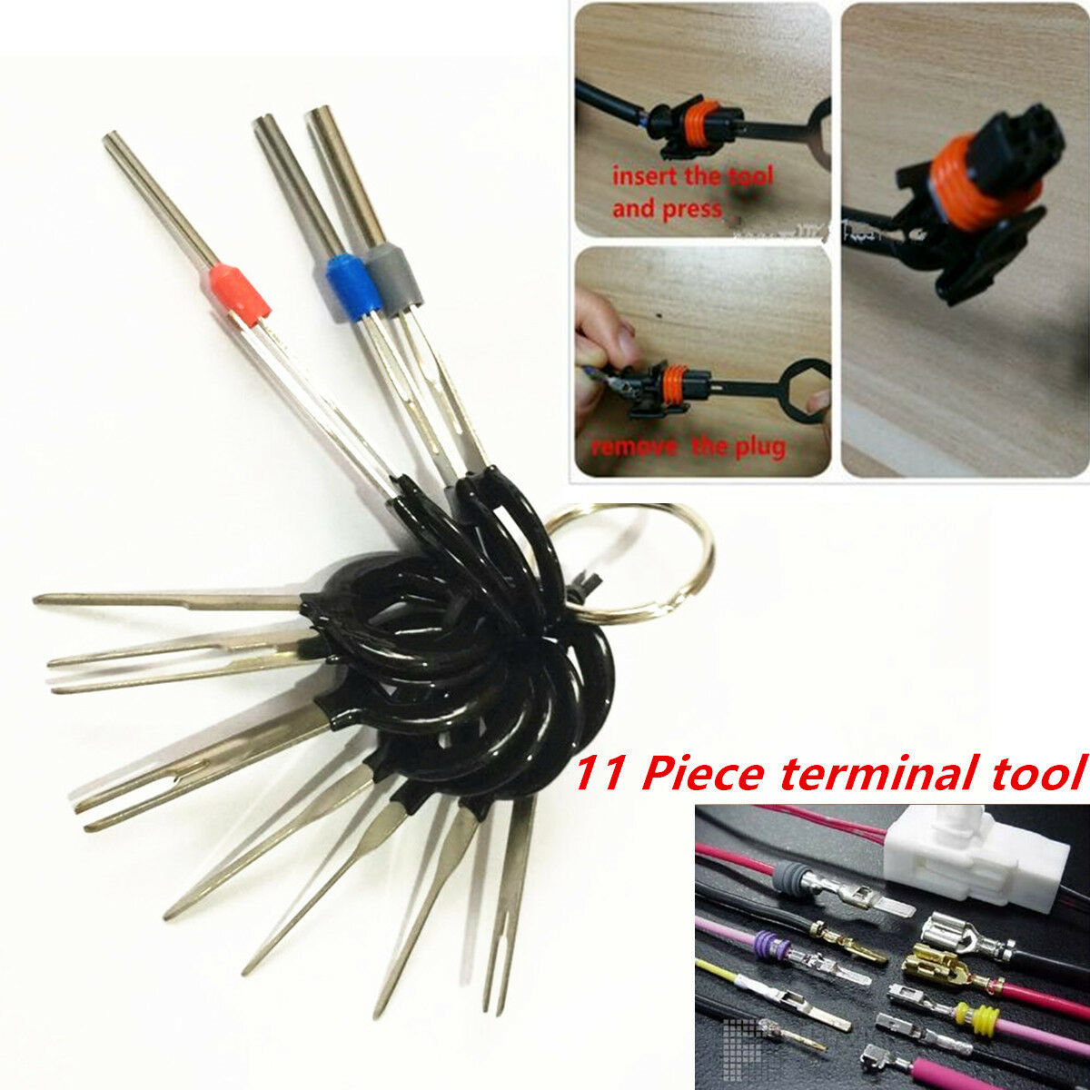 Car Plug Circuit Board Wire Harness Terminal Extractor Pick 11pcs Connector  Tool