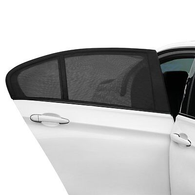 2 PCS Car Auto Window Sun Shade Breathable Mesh Screen Cover Sunshade Protector