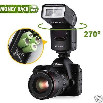 Universal Camera Flash Light Speedlite For Canon EOS Rebel & Nikon Sony