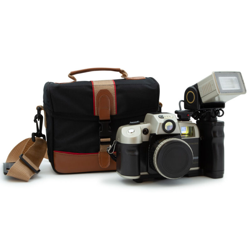 Sima C-Pix 35mm Retro Style Film Camera Set With Zoom Flash & Carry Case Bag