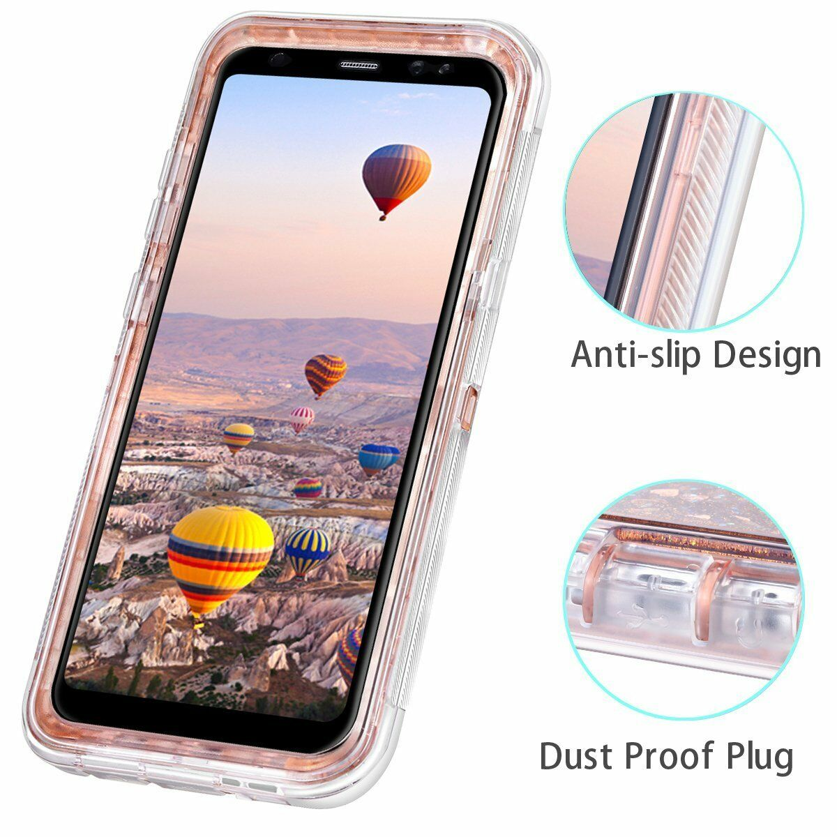 Купить Unbranded/Generic - Samsung Galaxy S8 Plus Note 9 8 Liquid Glitter Defender Case Clip Fits Otterbox