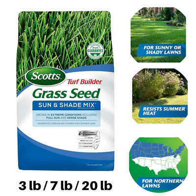 Scotts Turf Builder Grass Seed Sun Shade Mix Grows Best Seed Extreme (Best Summer Grass Seed)