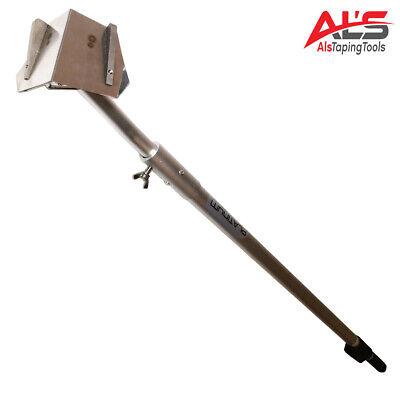 Platinum Drywall Tools 2.5 Drywall Corner Flusher Glazer W Extendable Handle