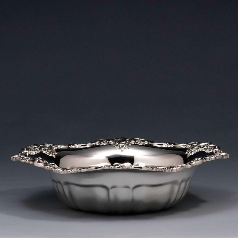 Wallace Baroque Silver Plate Serving Bowl (81400550539)