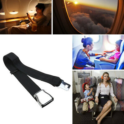 Airplane Seat Belt Extension Adjustable Extender Airline/Buckle Aircraft Black
